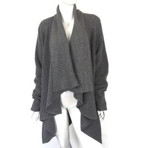 H by Halston XL Open Front Cardigan Gray Heavy